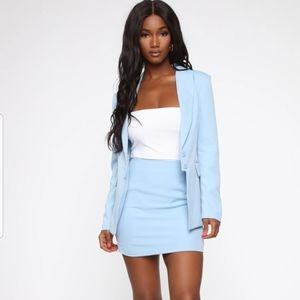 Fashion Nova blue suit